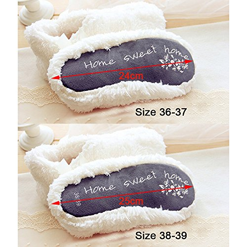 Eastlion Winter Simple Soft Cotton Warm Indoor Coral Cashmere Shoes dQD5IhJd3