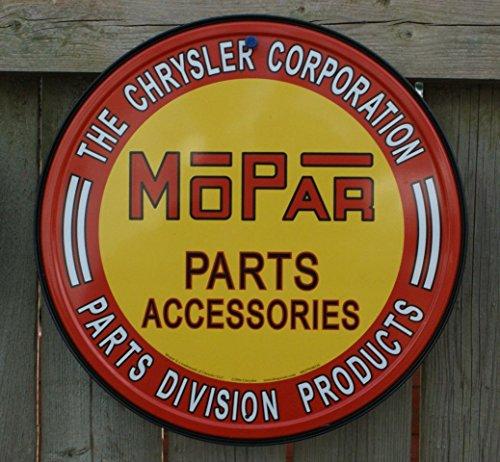 Chrysler Mopar Parts Tin Sign 12 x 12in