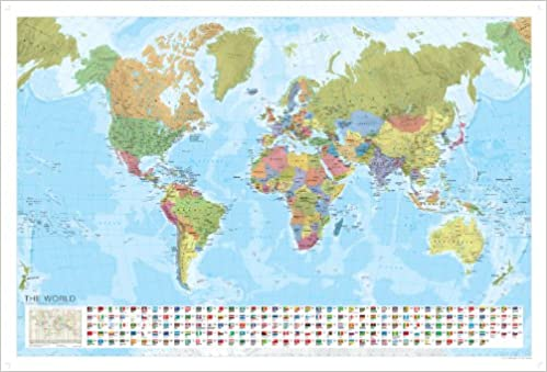 Marco polo laminated world wall map marco polo maps amazon marco polo laminated world wall map marco polo maps amazon marco polo 9783829767774 books gumiabroncs Images