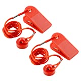 Forfar 1Pc Universal Sports Running Machine Safety Safe Key Treadmill Magnetic Security Round Switch Lock Fitness For Most Treadmill Red