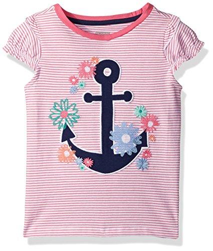 Gymboree Baby Toddler Girls' Short Sleeve Tee, Pink Lullaby, 5T