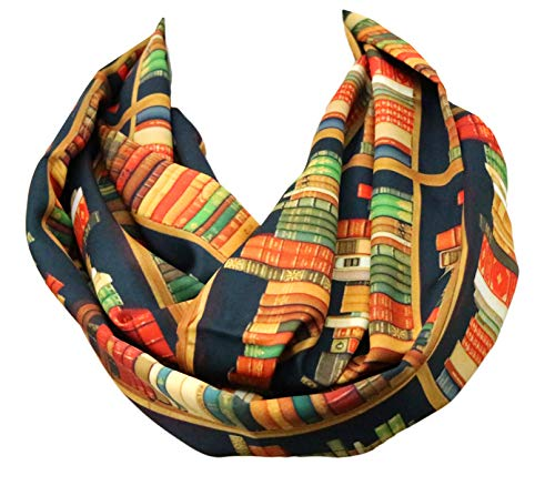 Book scarf Library Bookshelves Infinity Scarf birthday gift for her
