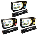 Catch Supplies 202X 3 Pack color High Yield Premium Replacement Toner Cartridge Compatible with HP Color LaserJet Pro MFP M280nw, M254dw, M281fdw Printers |CF501X Cyan, CF503X Magenta, CF502X Yellow|