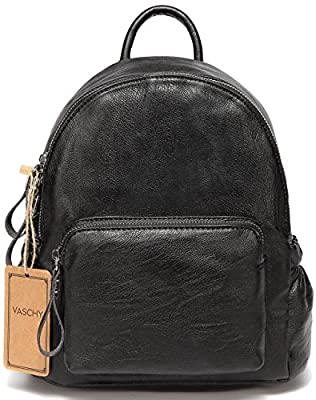 Mini Backpack Purse,Vaschy Faux Leather Small Backpack for Women
