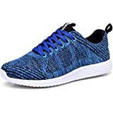 TIOSEBON Mens Lightweight Breathable Summer Honeycomb Sneakers 9.5 US Blue