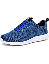 Mens Lightweight Athletic Walking Casual Sneakers Lace-Up Running Sports Shoes
