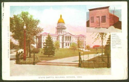 State Capitol Denver CO undivided back postcard 1906 (Denver Co Capitol State)