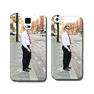 Blind Man Crossing Road cell phone cover case Samsung S5