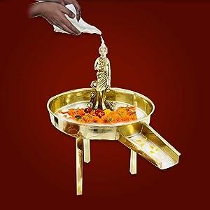 Vedic Vaani Snanam Shankh Abhishek Set of Shri Neelkanth Swaminarayan Bhagwan with Abhishek Tray, Shankh & Idol for Daily Puja & Worship, Home, Temple, Pooja Room, Religious Festival