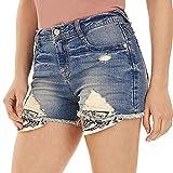 WallFlower Women's Juniors Sky High Bling Shorty Shorts in Tessa, 3