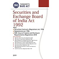 Securities and Exchange Board of India Act 1992 (Bare Act) (2019 Edition)