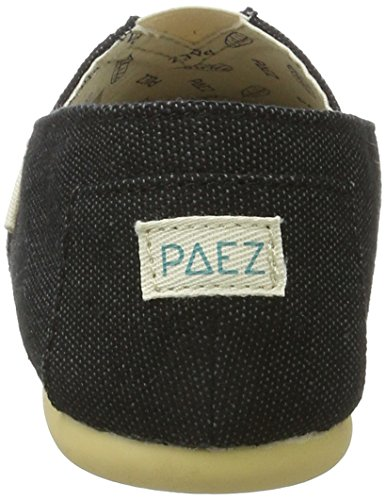 Paez Original-Combi, Espadrilles Femme, Combi Light Blue Schwarz (Black)