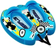 Watersports Inflatable Towable Booster Tube - Two Person Water Boating Float Tow Raft, Inflatable Pull Boats/T