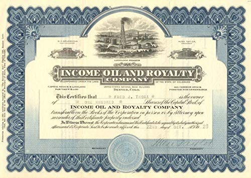 Income Oil and Royalty Company