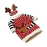 HENGSONG Christmas Decoration Decor Wine Bottle Covers Christmas Winter Holiday Knit Sweaters (Style 2)