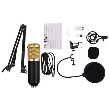 SUPVOX Profesional Micrófono de Condensador cardioide bm800 Set ...