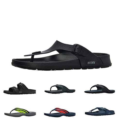 95bd568a42712 Image Unavailable. Image not available for. Color  FITSY Thomas Men s Toe  Post Flip-Flop Summer Holiday Indoor Outdoor Shower ...