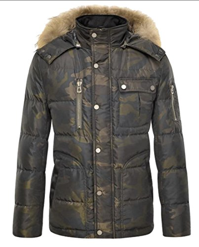 M&S&W Men's Winter Faux Fur Outwear Hooded Parka Jackets Camouflage Overcoat 1
