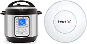 Instant Pot Duo Plus 9-in-1 Electric Pressure Cooker, Sterilizer, Slow Cooker, 6 Quart, 15 One-Touch Programs & Genuine Instant Pot Silicone Lid 5 and 6 Quart