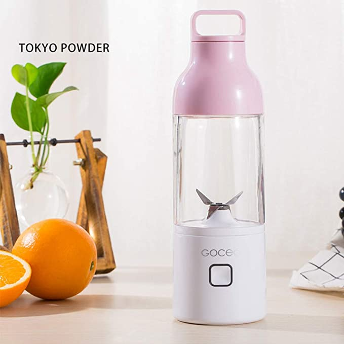Juice Cup Electric Portable Portable Cup USB Charging Automatic Stirring Fruit Juicer Separate (Pink)