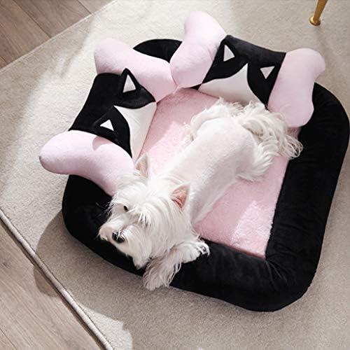 ペットと犬のベッド猫と犬のためのソフトソファタイプ取り外し可能と洗濯可能な四季ユニバーサルペットマット大、中型犬 (色 : グレイ ぐれい, サイズ さいず : 65x65cm)