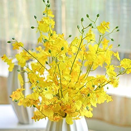 Los floreros emulación de adornos de flores de seda flores ...