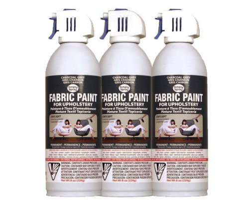 Simply Spray Upholstery Fabric Spray Paint 3 PK Charcoal Grey