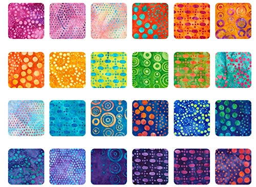 Lunn Studios Artisan Batiks Round and Around Roll Up 40 2.5-inch Strips Robert Kaufman RU-840-40 by Robert Kaufman Fabrics (Image #1)