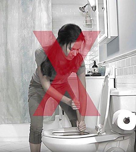 POWDER PLUNGER Toilet Bowl Clog Remover | Toilet Clog Eliminator | Toilet Plunger - 2 Pack