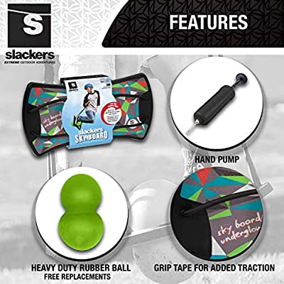 slackers Sky Board with LED Lights, Blue: Toys & Games
