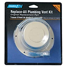 Camco 40033 RV Replace All Plumbing Vent Kit (Polar White)
