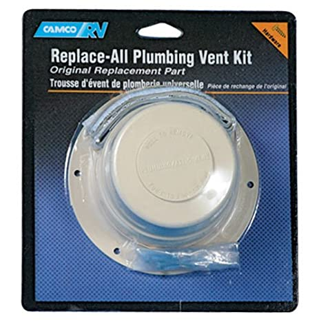 Camco RV 40033 White Plumbing Vent Cap /& Base Kit
