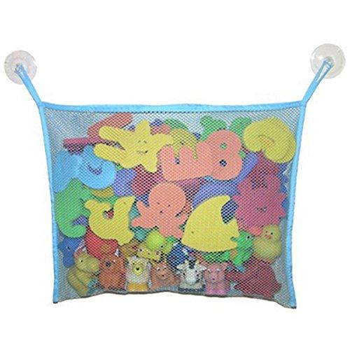 Lalang Baby Badewanne Spielzeug Aufbewahrungstasche Tasche Badespielzeug Netz Organizer Ordentlich Toys Mesh Beutel (Sky Blue)