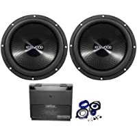 Package: (2) Kenwood Kfc-w3013ps 12 4 Ohm Performance Series Car Subwoofer with 2400 Watt Peak / 800 Watt RMS + Kenwood Kac-8105d Class D Mono 1000 Watt Class D Amplifier + Cadence Wk41 Complete 4 Gauge Wire Kit with Rca Cables