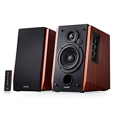 Edifier R1700BT Bluetooth Bookshelf Speakers - Active Near-field Studio Monitors - Powered Speakers 2.0 Setup Wooden Enclosure - 66w RMS