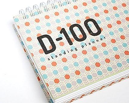D-100 100 días sin fecha agenda planificador diario ...
