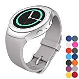 Samsung Gear S2 Band,CoJerk Replacement Silicone Watch Band for Samsung Gear S2 Wrist Band,Colored Bracelet band (Lavender Gray)