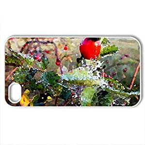 Autumn morning. - Case Cover for iPhone 4 and 4s (Fields Series, Watercolor style, White)