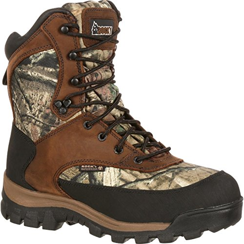 Rocky Men's FQ0004755 Mid Calf Boot, Brown and Mossy Oak Break Up Infinity, 9 M US - 800g Boot
