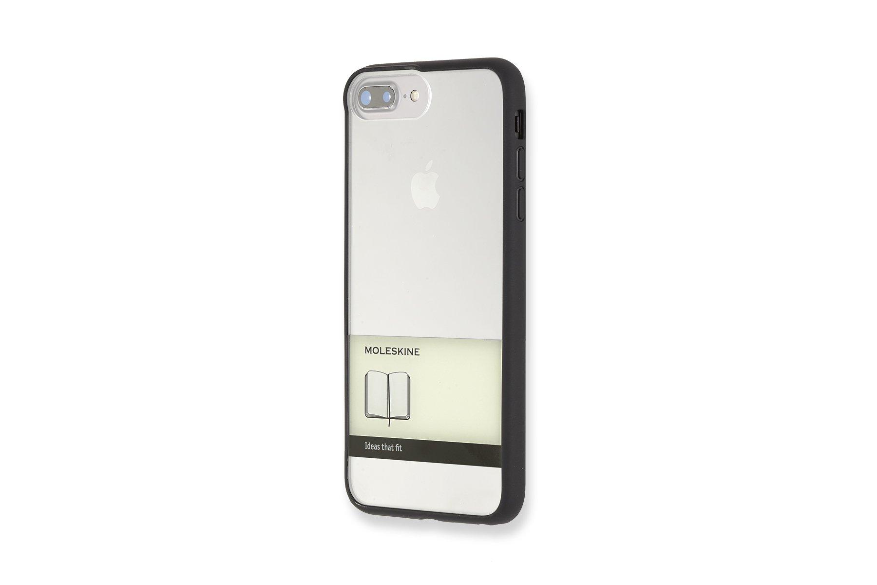 Moleskine Hartschalenetui (Durchsichtiges Gummiband) geeignet für Iphone 7Plus, schwarz