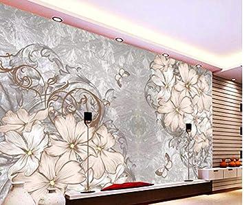 Xzfddn 3D Wandbilder Tapete Für Wohnzimmer Marble Flower ...