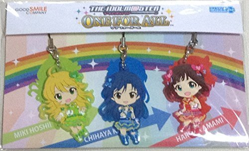 The Idolmaster One For All Nendoroid Plus rubber strap Haruka Amami Chihaya Kisaragi Miki Hoshii