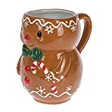Brown Gingerbread Man 12 ounce Glazed Earthenware Coffee Mug