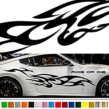 Amazon com fire tribal car sticker car vinyl side graphics wa35 car vinylgraphic car custom stickers decals 【8 colors to choose from】 japan quality fast