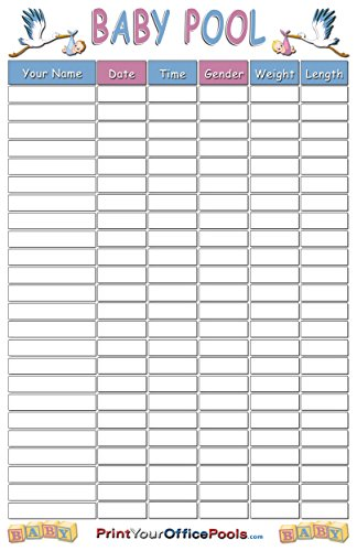 22 x 34 Baby Birth Pregnancy Due Date Prediction Game Poster - Great for Baby Showers - Reusable & Erasable