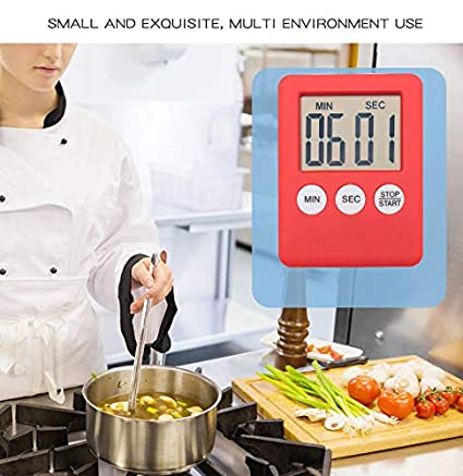 Abracing LCD Digital Screen Cocina Timer Square Countdown Alarm Magnet Horas