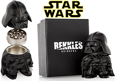 Star Wars Herb Grinder, Darth Vader Grinder, Perfect Size 2″ 3-Pieces, With Stash Storage Container For Spices – Gift Box