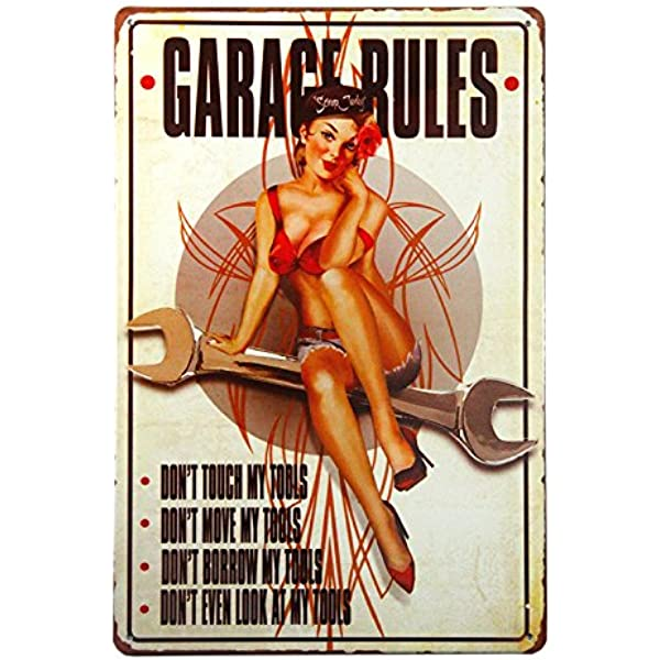 Vintage Home Decor PLAYER/'S GIRL Metal Sign Antique Tray Home Decor Pin Up Dec