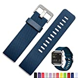 Fitbit Blaze Band,iSank Soft Silicone Sport Replacement Strap For Smart Fitness Watch Fitbit Blaze - Blue (Small Size)