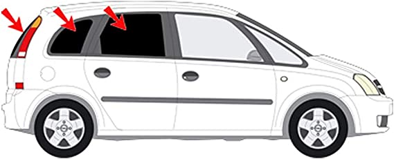 Solarplexius Sonnenschutz Autosonnenschutz Scheibentönung Sonnenschutzfolie Opel Meriva A Bj 03 10 Auto